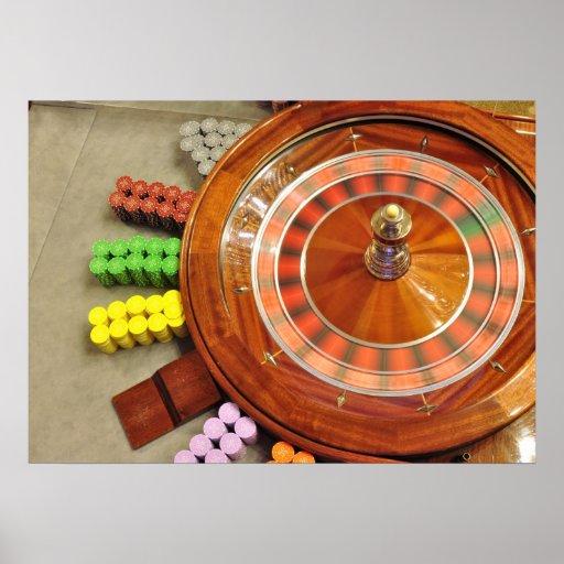 casino roulette wheel spinning rotate gambling print