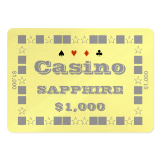Casino ~SAPPHIRE~ Poker Chip Plaque $1K (100ct) Pack Of Chubby Business Cards
