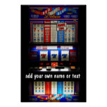Casino Slot Machine Lucky 7  Personalised Poster