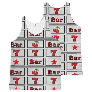 Casino Slot Machine Reel Design All-Over Print Tank Top
