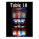 Casino Slot Machine Table Number -  Lucky in Love Post Card