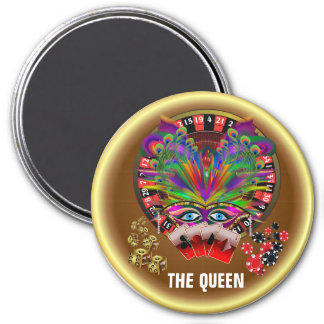 Casino Themes Masquerade 1 See Notes 7.5 Cm Round Magnet