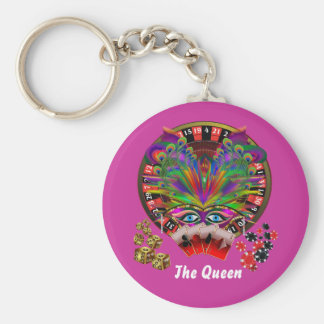 Casino Themes Masquerade 1 See Notes Basic Round Button Key Ring
