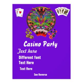 Casino Themes Masquerade 1 See Notes Flyer Design