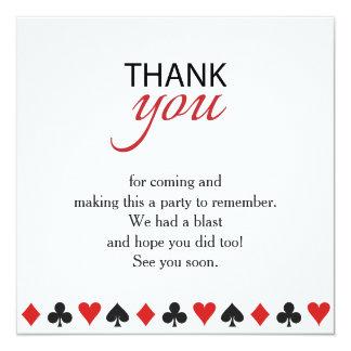 Casino Vegas Poker Texas Party Thank You Card 13 Cm X 13 Cm Square Invitation Card