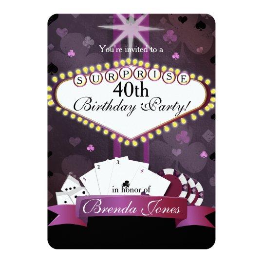 Casino/ Vegas style Birthday Invitation