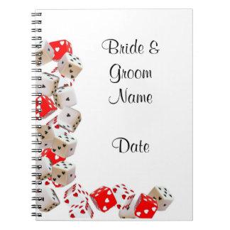Casino Wedding Guestbook Notebook