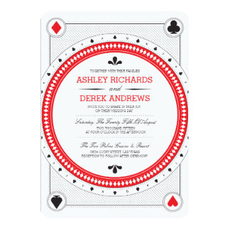 Shop Zazzle's selection of casino wedding invitations for your special day!
