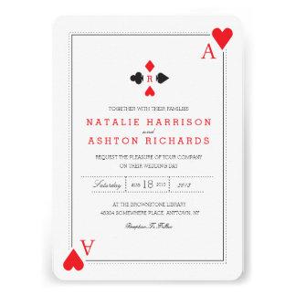 Casino Wedding Invite