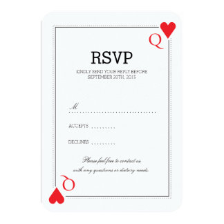 Casino Wedding RSVP Card 9 Cm X 13 Cm Invitation Card
