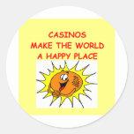 casinos round sticker