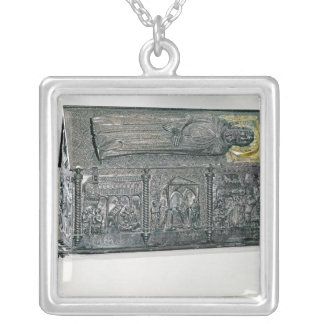 Casket containing the remains of St. Simeon Silver Plated Necklace