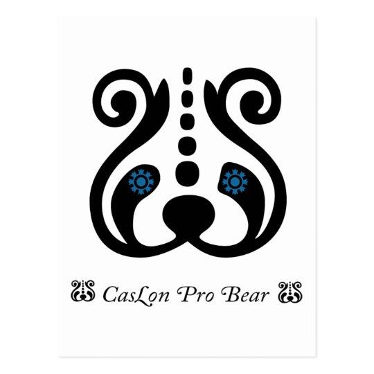 Caslon Pro Bear Postcard