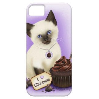 Caso siamés del iPhone 5 del chocolate de la magda iPhone 5 Case