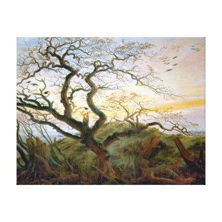 Caspar David Friedrich The Tree of Crows Canvas Print