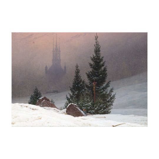 Caspar David Friedrich Winter Landscape Canvas Print