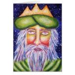 """""""Caspar"""" Three Kings Christmas Art Greeting Card"""