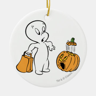 Casper and Pumpkin 2 Christmas Ornament