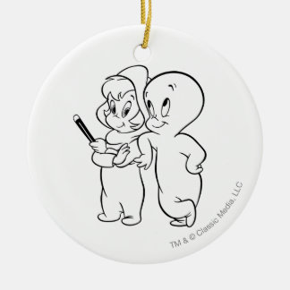Casper and Wendy Christmas Ornament