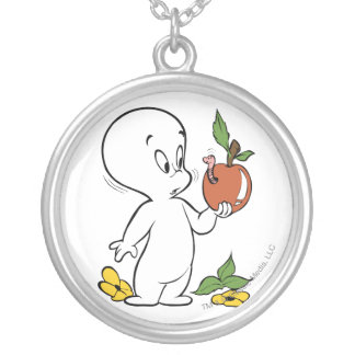 casper Apple Silver Plated Necklace