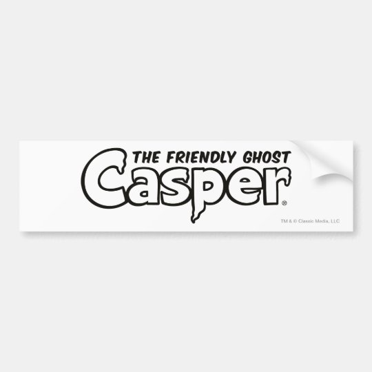 Casper Black Outline Logo Bumper Sticker