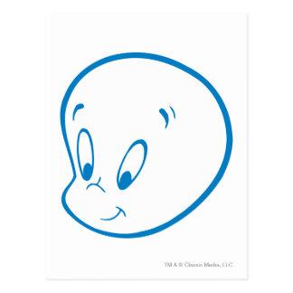 Casper Blue Outline Postcard