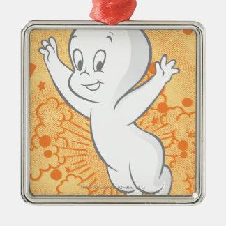 Casper Boo Orange Christmas Ornament