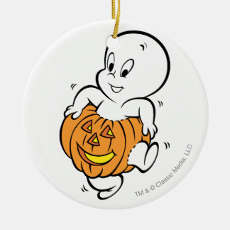 Casper Dancing in Pumpkin Christmas Ornament