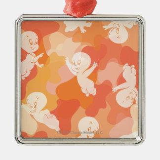 Casper Flying Collage Silver-Colored Square Decoration