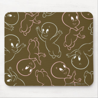 Casper Ghost Pattern Mouse Pad