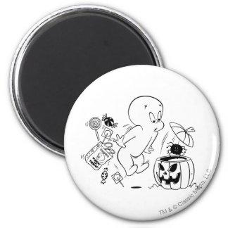 Casper Halloween Spider Scare 6 Cm Round Magnet
