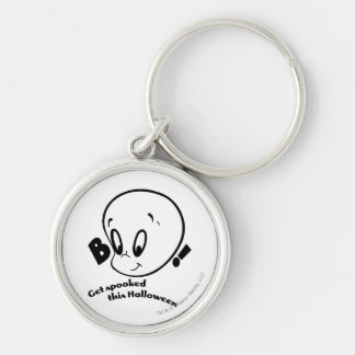 Casper Halloween Spooked Silver-Colored Round Key Ring
