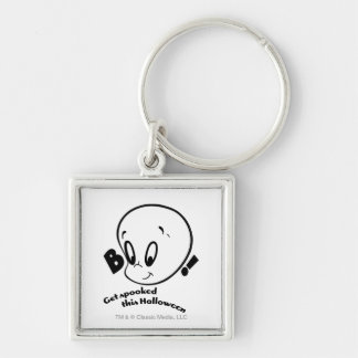 Casper Halloween Spooked Silver-Colored Square Key Ring