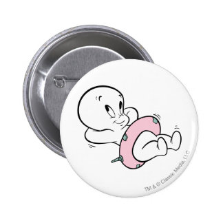 Casper in Inner Tube 6 Cm Round Badge