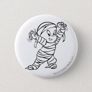 Casper in Mummy Costume 2 6 Cm Round Badge