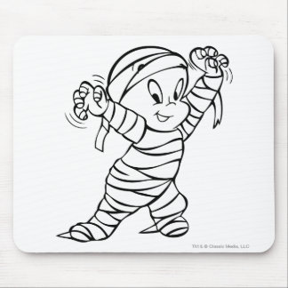Casper in Mummy Costume 2 Mouse Pad