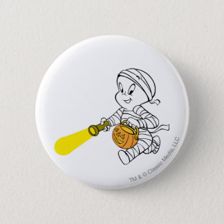 Casper in Mummy Costume 6 Cm Round Badge