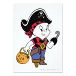 Casper in Pirate Costume 13 Cm X 18 Cm Invitation Card