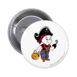 Casper in Pirate Costume 6 Cm Round Badge