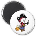 Casper in Pirate Costume 6 Cm Round Magnet