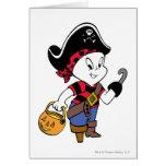 Casper in Pirate Costume Greeting Card