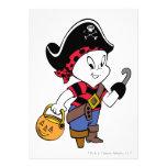 Casper in Pirate Costume Personalized Announcements