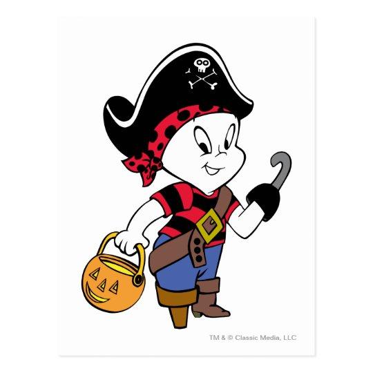 Casper in Pirate Costume Postcard