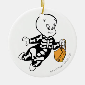 Casper in Skeleton Costume Christmas Ornament