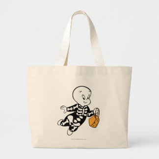 Casper in Skeleton Costume Large Tote Bag