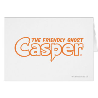 Casper Orange Logo 2 Card