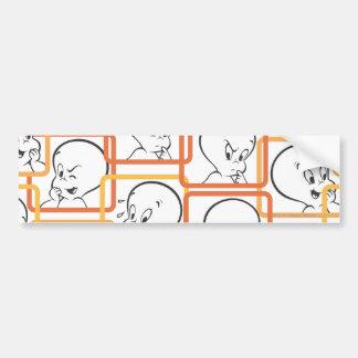 Casper Orange Squares Bumper Sticker