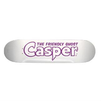 Casper Purple Outline Logo Skate Deck