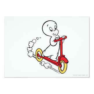 Casper Riding Scooter 13 Cm X 18 Cm Invitation Card
