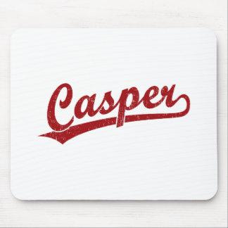 Casper script logo in red mouse pad
